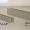 alumiini listat saunan lasiseinään