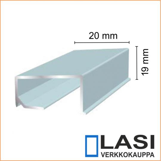 Alumiininen ikkunan alalista 20x19mm
