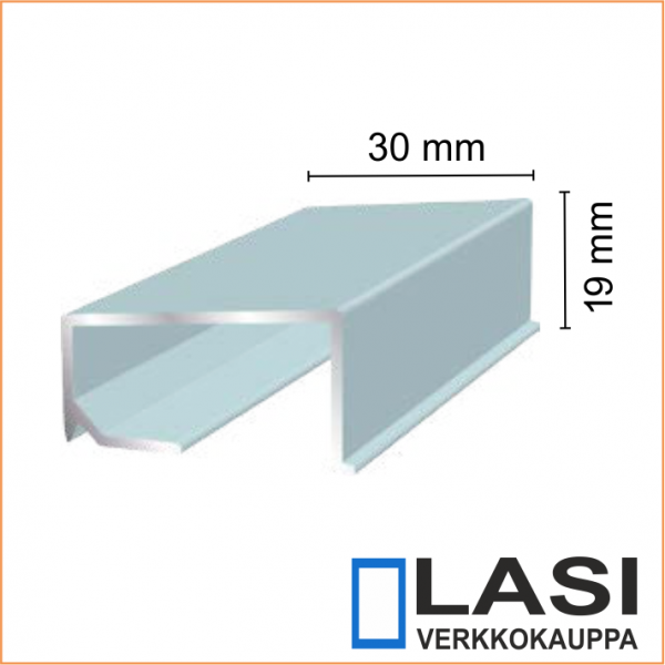 Alumiininen ikkunan alalista 30x19mm