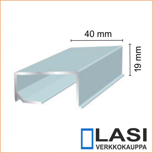 Alumiininen ikkunan alalista 40x19mm