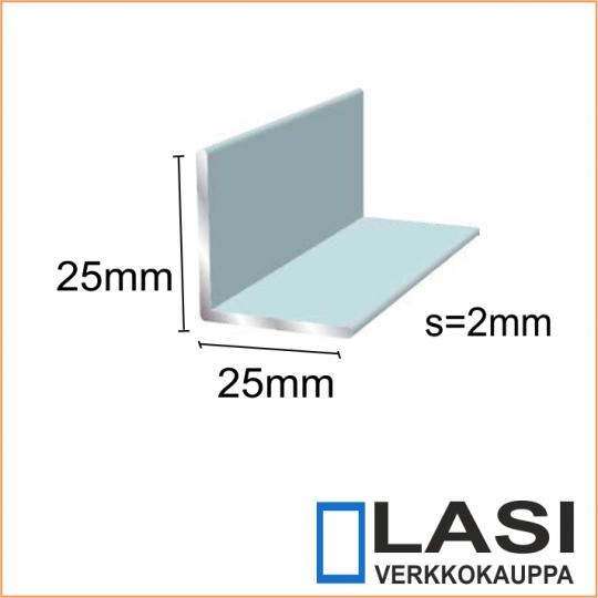 Alumiinikulma 25x25mm