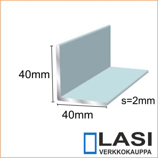 Alumiinikulma 40x40mm