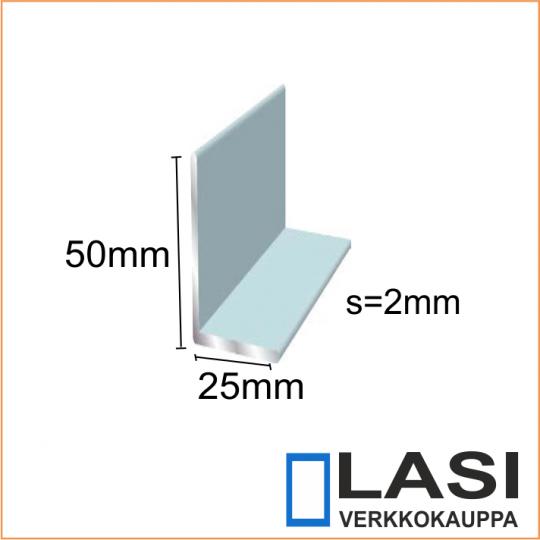 Alumiinikulma 50x25 mm